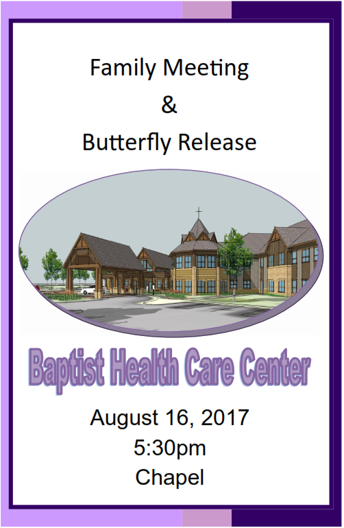 Family meeting and butterfly release