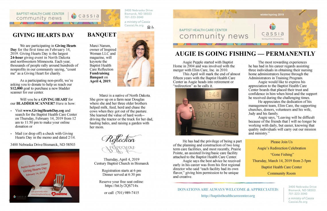 1 2019 BHCC Winter Spring Newsletter