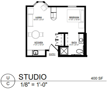 Apartment Layout Caley House