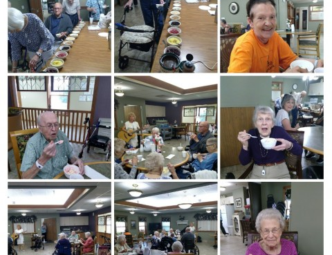 Our August Ice Cream Social was a hit!! Ice Cream and the beautiful music by Marie!! It was truly a wonderful time!!